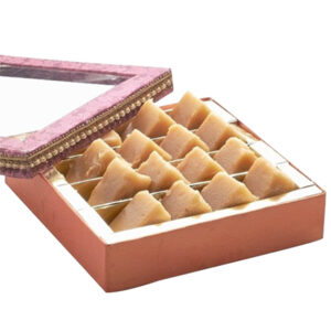 South Indian Mysore Pak with Silver Coated Coin